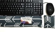"""Ergonomic Keyboard Pad Mouse Pad -"""" With Removable Washable Cover"""" - office gift - Wrist Rest Heat Pack -wrist support- computer accessory Canned Heat, Heat Pack, Unique Christmas Gifts, Office Gifts, Practical Gifts, Student Gifts, Computer Accessories, Keyboard, Hand Sewing"""