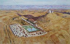 Herodium in the Judean Desert, 1st Century AD @ Bible Illustrations, Biblical Sermon Illustrations, Christian Pictures