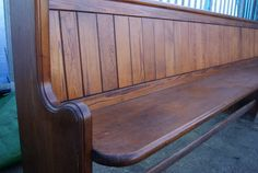 Victorian pitch pine pews for sale on SalvoWEB from Teesside Architectural Salvage in North Yorkshire [Salvo code dealer