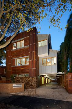 We feature a lot of single-family homes here so it's nice to mix it up and showcase other types as well. One in particular is the Elwood Townhouses that were designed by the Australian firm of Marcus O'Reilly Architects.