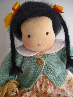 """Waldorf Doll16 Inch Asian Girl Doll """"Keiko"""" by HuggerMuggerDolls"""