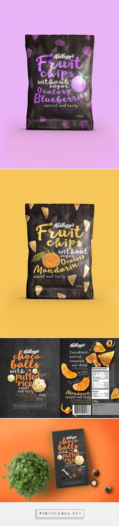 This Kellogg's Fruit Chips Concept will Get You Ready to Snack — The Dieline - Branding & Packaging Design - created via https://pinthemall.net