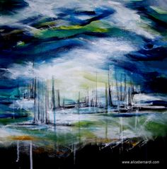 """Storm"" acrylic on canvas 50x50cm www.alicebernardi.com"