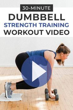 This dumbbell circuit workout consists of 16 strength training exercises broken into 4 circuits. Follow along with this workout video to strengthen every major muscle group while raising your heart rate!