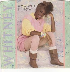 """Whitney Houston / How Will I Know / Someone For Me / 7"""" Vinyl 45 RPM Record & Picture Sleeve #WhitneyHouston #PopMusic"""