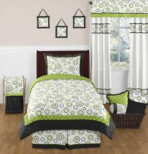 Sweet Jojo Designs Spirodot Lime and Black Childrens and Kids Bedding Set 4 Piece Boy or Girl Twin Set Teen Boy Bedding Sets, Twin Comforter Sets, King Comforter, Green Bedding, Black Bedding, Pink Bedding, Lime, Home Decor, Sweet