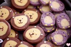 Diamonds for Dessert: Penguin Icebox Cookies Lion Cookies, Turtle Cookies, Cookies Et Biscuits, Galletas Cookies, Cupcake Cookies, Sugar Cookies, Cookie Recipes, Dessert Recipes, Icebox Cookies