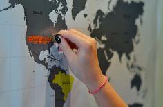 mapa-mundi para raspar
