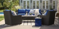Calistoga Lounge Collection -- This is a beautiful shade of blue.