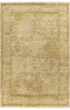 $5 Off when you share! Surya Victoria VIC2000 Gold Rug #RugsUSA