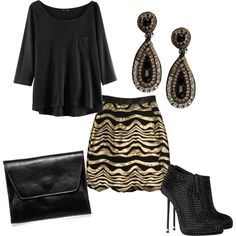 A 3/4 sleeve, loose top and mini skirt is a classy way to look dressed up without really trying. Not to mention, you minimize the amount of skin you show (sorry fellas...)