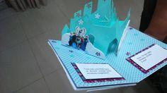 Convite pop up 3D Frozen - parte interna