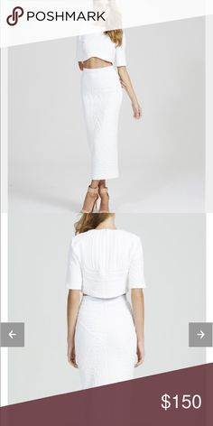 Alice McCall white top and skirt Never worn too and skirt set! Pricing firm, please no offers unless you can afford the listing price. Alice McCall Skirts Pencil