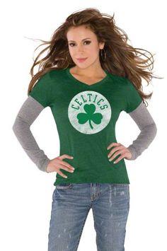 Boston Celtics Green Women's Primary Logo Tri « Clothing Impulse. Alyssa Milano