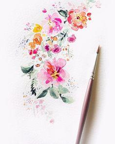 Little baby work in progress blooms for one of my favorite clients. . . . #workinprogress #watercolorstudy #watercolorart #watercolors #watercolor #watercolorflowers #dsfloral #floralpainting #floralmotif #flowers #flowerpainting #bouquet #peonies #sprigs #spring #watercolorsketch