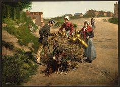 [Milksellers, Brussels, Belgium] (LOC)    [Milksellers, Brussels, Belgium]    [between ca. 1890 and ca. 1900].    1 photomechanical print : photochrom, color.