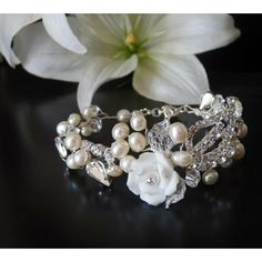 Zuchtperlen Rosen Armband Hochzeit Ornara Design