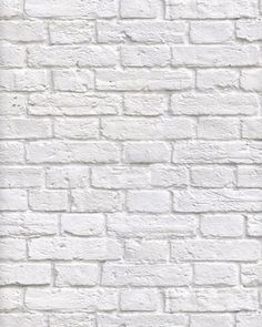 White-washed painted brick effect wallpaper. A contemporary design which would look good as a feature in any room and also coordinates with Britain in Frame White Brick Wallpaper, Brick Effect Wallpaper, White Brick Walls, Grey Brick, Faux Brick, Exposed Brick, White Bricks, Modern Wallpaper, Wallpaper Roll