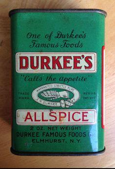 Vintage Durkee's spice tin #Durkees