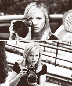 Kristen Bell as Veronica Mars. #cantwaitforthemovie