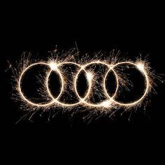 #Audi #Love #New #Year #20015 #Fireworks #fuochi #logo #fourrings #quattroanelli #sparkles