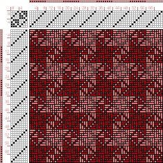 draft image: Figurierte Muster Pl. XXI Nr. 16 (b), Die färbige Gewebemusterung, Franz Donat, 8S, 8T