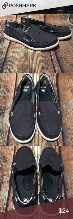 0a357f1fa96b20 Crocs Blue Canvas Slip On Shoes Size 7 Crocs women s size 7 canvas slip on  loafers