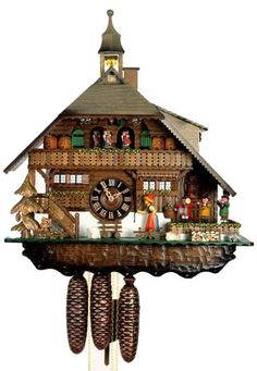 Get a hand crafted coo coo clock from the Black Forest, Germany. - I've always wanted to go to the Black Forest and bring home a Coo Coo Clock! Globes Terrestres, Coo Coo Clock, Black Forest Germany, Cool Clocks, Antique Clocks, Antique Watches, Time Clock, Clock Decor, Bohemian Style