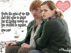 Romione Wallpaper: Ron and Hermione Wallpaper Harry Potter Hermione, Harry Potter Love, Harry Potter Universal, Ron Weasley, Hermione Granger, Unexpected Love, No One Loves Me, Book Series, Hogwarts