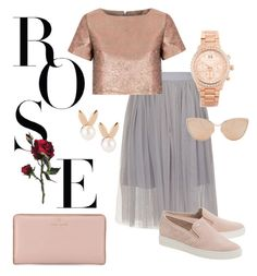 Rose Gold by teennetwork on Polyvore featuring Glamorous, MICHAEL Michael Kors, Kate Spade, Michael Kors, Aamaya by priyanka, Cutler and Gross, Trendy and fashionbyiaam