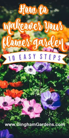 Do you have an overgrown flower garden, or a weed pit garden, that is in need of a major makeover, redo or transformation? Learn how to do your own DIY backyard makeover and how to clean up overgrown flower beds. Flower Garden Plans, Flower Garden Design, Garden Borders, Garden Paths, Best Perennials, Annual Flowers, Backyard Makeover, Flower Beds, Garden Planning