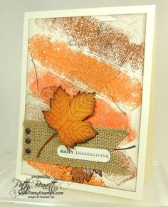 Magnificent Maple and Burlap Ribbon card