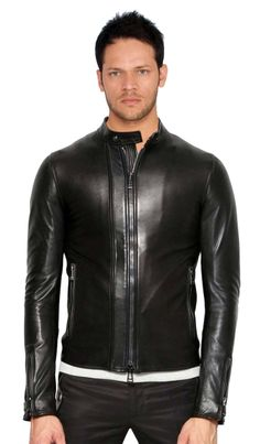 Belstaff Black Nappa Leather Jacket, because we can all appreciate a little  bit of bad ass in our man!
