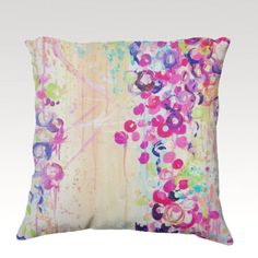 HGTV Featured Pillow DANCE of the SAKURA Velveteen by EbiEmporium, $75.00 Radiant Orchid Purple Pretty in Pink Lovely Feminine  Home Decor Throw Pillow Toss Cushion Fine Art Decorative Accessory