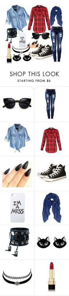 """""""My First Polyvore Outfit"""" by samijacksonwinchester ❤ liked on Polyvore featuring Chicnova Fashion, Vince, Converse, LAUREN MOSHI, Humble Chic, Funk Plus, Erstwilder, Charlotte Russe and Dolce&Gabbana"""