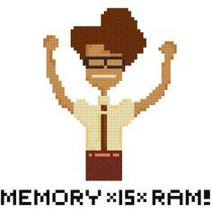 Memory *is* RAM - Moss - The IT Crowd - Cross Stitch Pattern ...