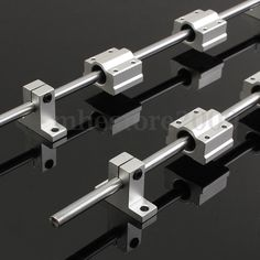2pcs 8mm 400mm Linear Shaft Rod Rail Kit w Bearing Block for 3D Printer CNC…