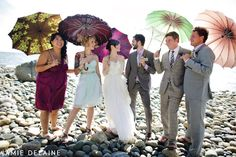 How fun are these shots with the colourful vintage umbrellas?!