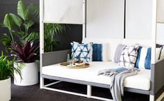 The perfect piece for relaxation in the summer, the Maldive Canopy Daybed from…