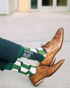 This Meeting is Bullshit Socks Green Socks, Work Socks, Funny Socks, Novelty Socks, Designer Socks, Mens Fitness, Work Wear, Oxford Shoes, Dress Shoes