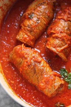 This authentic Italian braciole recipe is perfect for your Sunday's lunch meal. Get ready to have your mouth water as this recipe will taste like your Italian grandma made it from scratch!