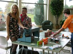 """UW-FDL Student sponsored activities during free hour in the University Center Commons - this day was a fun """"stress relief"""" game of Bingo."""