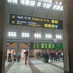 Stockholm central station Sunday afternoon.