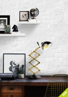 The best mid-century modern table lamps for a modern lighting. #design #modern #lighting |Take a look at the best luxury lighting from DelightFULL at www.delightfull.eu