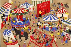 fairground endpapers