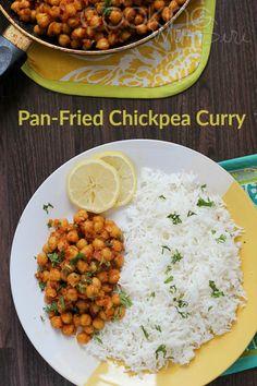 Tawa Chana Recipe Pan-Fried Chickpea Curry #recipe #indianfood --> http://www.cookingwithsiri.com/2016/07/tarla-dalals-tawa-chana-pan-fried.html