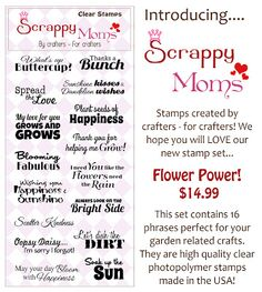 Luv Scrapping Together: Sunshine and Happiness ~ Scrappy Moms Stamps June Release