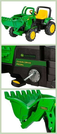 John Deere Front Loader for Kids is an exciting toy. They can feel like a real construction worker and pretend to be digging. They can also help carry stuff in your backyard.
