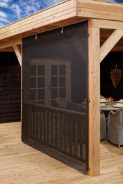 Log cabins 529102656221579601 - Roll up cloth wall for a gazebo, log cabin, or garden building canopy. Complete with rail, cloth, clasps and fitting kit. Source by sandrineguarini Backyard Pavilion, Backyard Patio Designs, Backyard Pergola, Backyard Landscaping, Backyard Projects, Pergola Kits, Outdoor Curtains, Outdoor Rooms, Outdoor Living