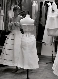 Haute Couture behind the scenes - in the fashion atelier; the making of a dress // Dior